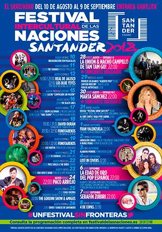 Cartel Programación Festival Intercultural de las Naciones Santander 2018