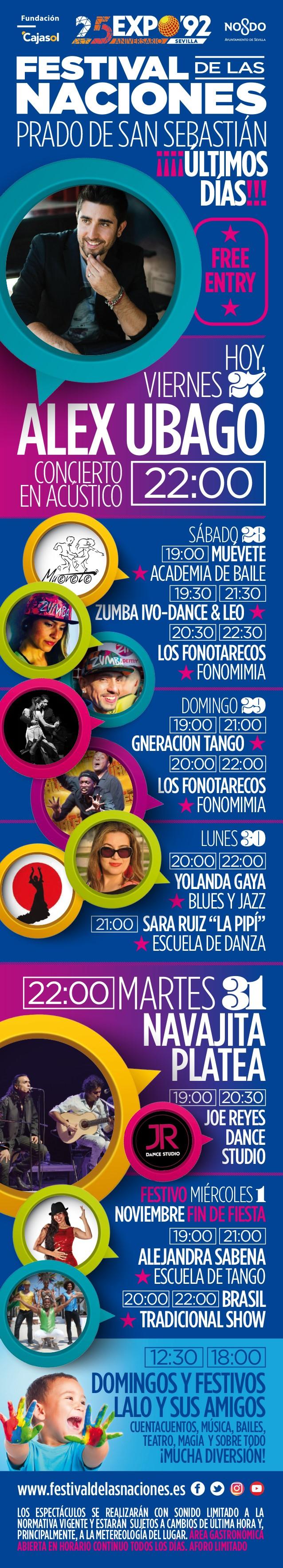 Programación Semana a Semana del Festival de las Naciones Sevilla 2017