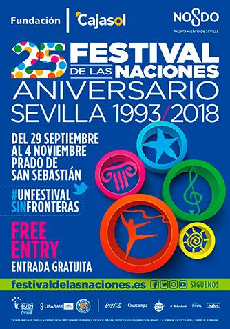 Cartel Institucional Festival de las Naciones Sevilla 2018