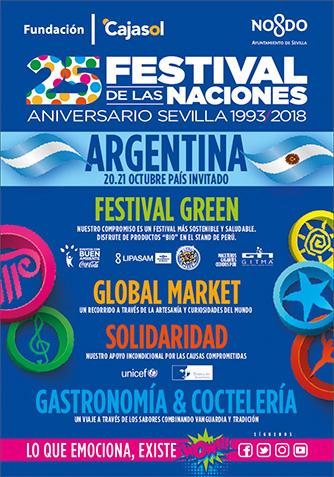 Cartel Nuevas Áreas del Festival de las Naciones Sevilla 2018