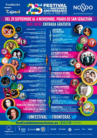 Cartel Programacióndel Festival de las Naciones Sevilla 2018