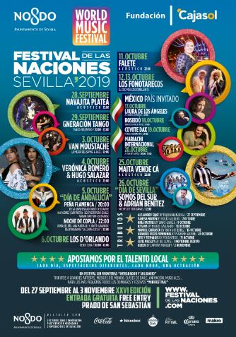 Cartel Artistas Festival de las Naciones Sevilla 2019