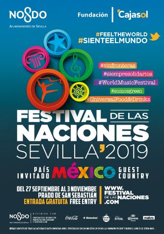 Cartel Institucional Festival de las Naciones Sevilla 2019