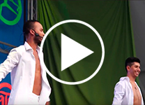 Actuación de La Escuela de Danza Bienestar Mama Rumba. Festival de las Naciones 2018