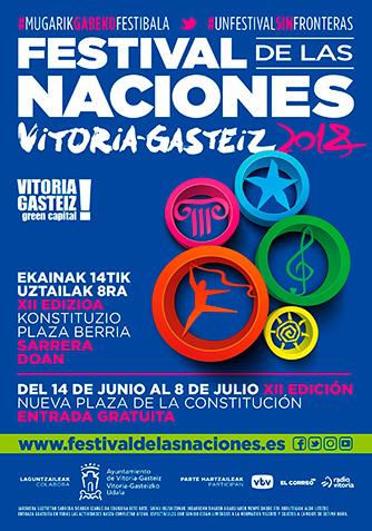 Cartel Festival de las Naciones Vitoria-Gazteiz 2018