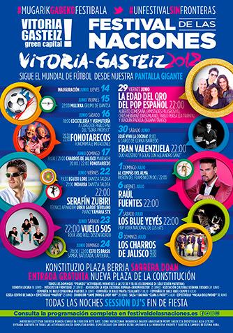 Cartel Programación Festival de las Naciones Vitoria-Gazteiz 2018