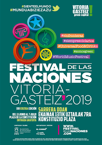 Cartel Institucional Festival de las Naciones Vitoria-Gastéiz 2019