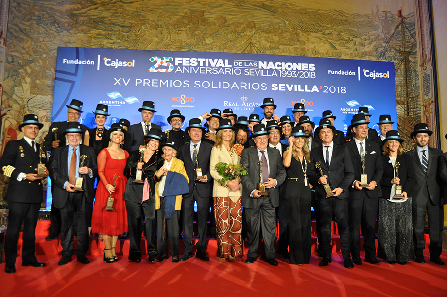 Premiados XV Premios Solidarios Sevilla 2018